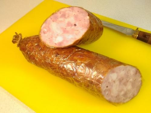 Домашняя копченая колбаса Столичная (ветчина)
