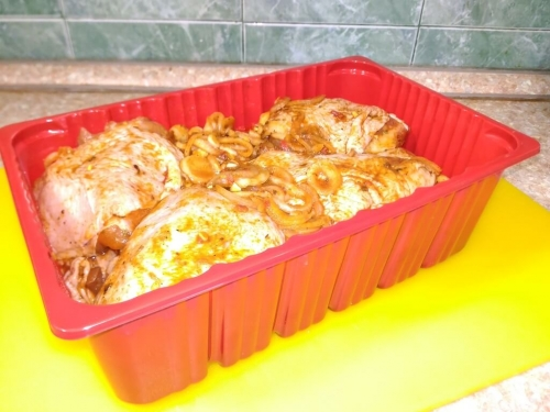 Шашлык из курицы по-домашнему