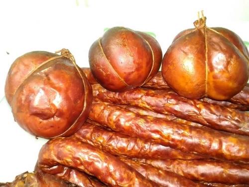 Ветчина копченая из говядины в натуральной оболочке