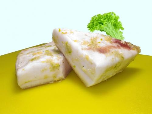 Сало соленое классическое с чесноком