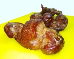 Копченые желудки из домашней индейки