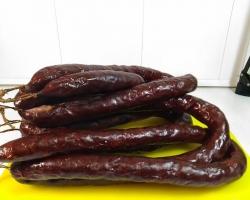 Домашняя копченая колбаса из Лосятины