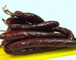 Домашняя копченая колбаса из Лосятины+свинины+медвежатины