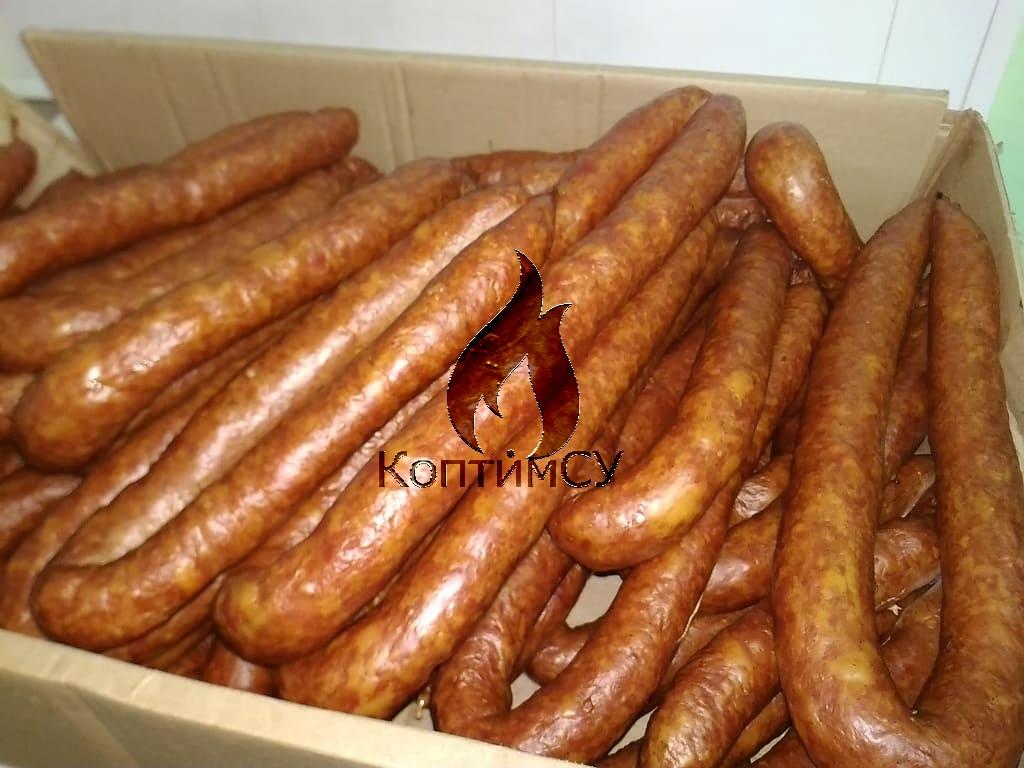 Копченая куриная колбаса в готовом виде